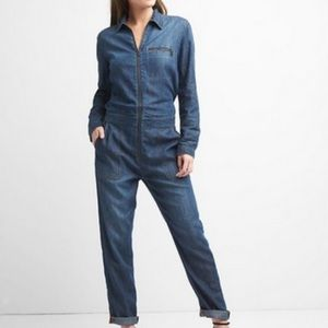 Gap Denim Utility Jumpsuit Coveralls